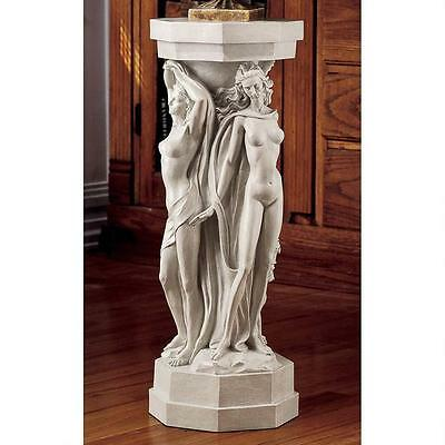 Maenads Dance of Pleasure Greek Column Pedestal