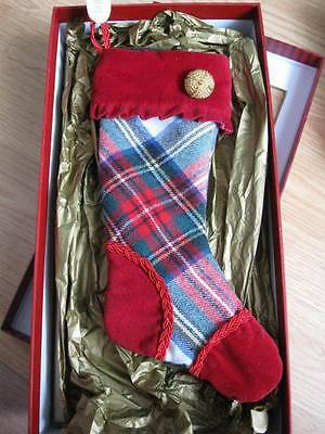WATERFORD HH $29 White Stewart Mini Plaid Stocking **Numbered Limited Edition**