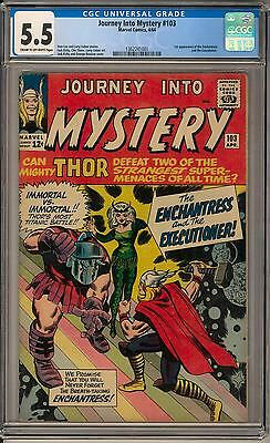 Journey Into Mystery #103 CGC 5.5 (C-OW) 1st Enchantress 1st Executioner