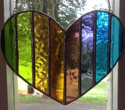 Spring In My Heart! Gorgeous Stained Glass Suncatcher Gift - pewtermoonsilver