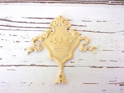 Furniture Appliques * Architectural Crown Crest * Paintable * Stainable