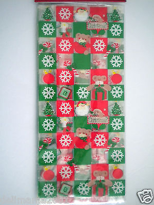 "Pkg. of 20 Luxury Christmas Cello Candy Bags ~ 5"" x 11.5"" ~ #1"