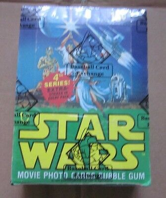 1978 TOPPS  STAR WARS UNOPENED 4th  SERIES WAX BOX
