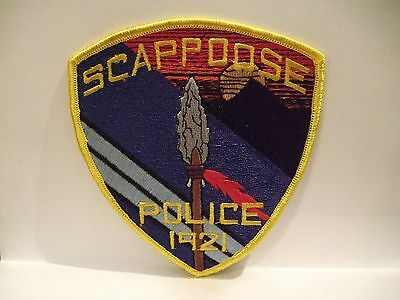 police patch   SCAPPOOSE POLICE OREGON