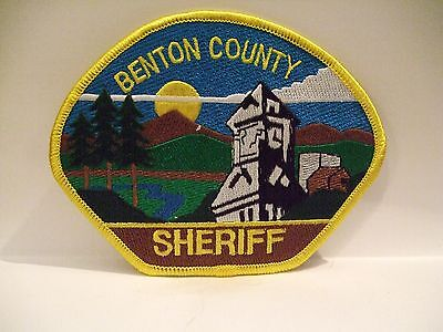 police patch  BENTON COUNTY SHERIFF OREGON