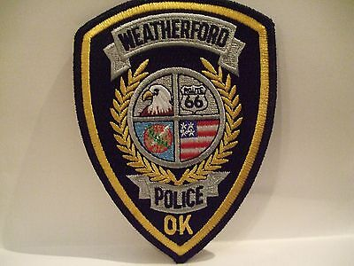 police patch   WEATHERFORD POLICE OKLAHOMA