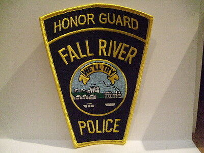 police patch FALL RIVER POLICE MASSACHUSETTS  HONOR GUARD