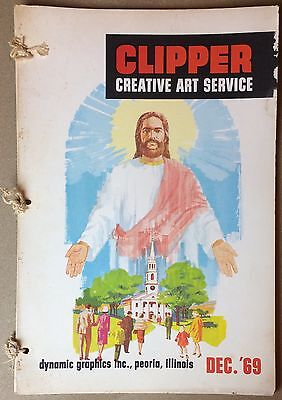 Clipper Creative Art 1969 Vintage Clip Art Book Dynamic Commercial Graphics