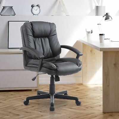 Adjustable 360°Swivel Faux Leathered Mid-Back Office Chair Executive Chairs Home