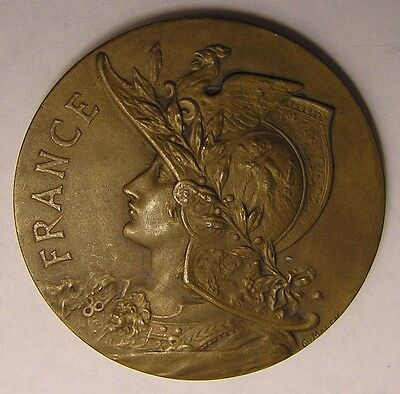 France Bronze Medal 1920 Union des Societes  D'Equitation Militaire by Marey