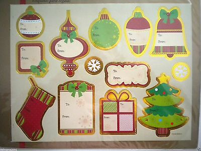 Pkg. Of 11 Large Luxury Gold Foil Peel 'n Stick Christmas Gift Tags ~ #3