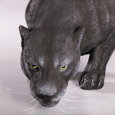 Grande Black Panther On the Prowl Garden Statue Sculpture Home Yard Decor 53""