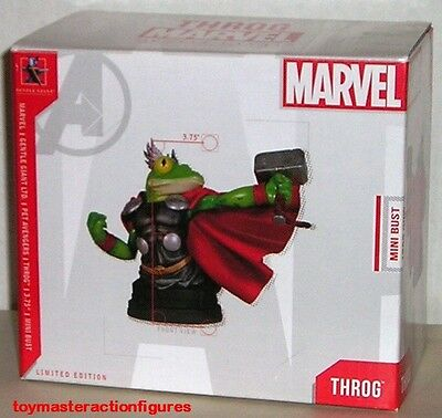 "GENTLE GIANT 2011 MARVEL PREMIER THOR FROG as THROG MIni Bust 3 3/4"" IN STOCK"