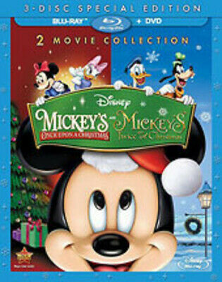 Mickey's Once Upon A Christmas / Mickey's Twice - 3 (2014, REGION 1 Blu-ray New)