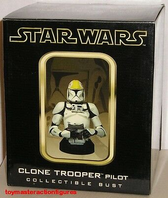 GENTLE GIANT 2004 STAR WARS CLONE TROOPER PILOT WIZARD WORLD EXC BUST In Stock