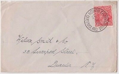 Stamp Australia 1&1/2d red KGV single watermark 1926 NORTH TAMBORINE Queensland