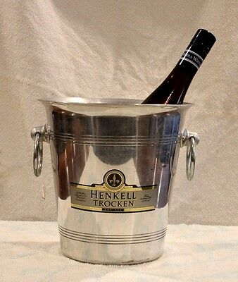 Vintage French Champagne Bucket In Very Good Used Condition. Signage; Trocken