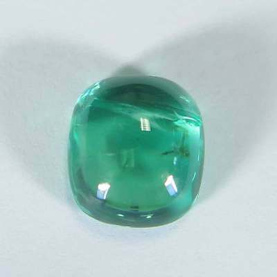"3.09Cts"" Pariaba Bluish Green Natural Apatite "" Cushion Cabochon "" 2p2702"