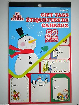 Book Of 52 Assorted Designs Peel 'n Stick  Foil Christmas Gift Tags ~ #3