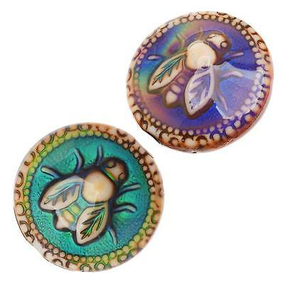 Mirage Color Changing Mood Beads - Honey Bee 19mm  (2)