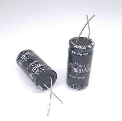US Stock 2pc Electrolytic Capacitors 10000uF 10000mfd 35V +105℃ Radial 18 x 36mm