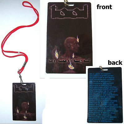 Tool In Concert Lateralus Tour Pass Lanyard New Band Official Maynard Nos