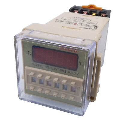 US Stock AC 110V Digital Precision Programmable Time Delay Relay DH48S-S & Base