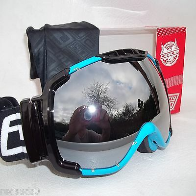Dirty Dog Snowboard Ski Goggles Blue Frame Renegade Mirror Lens  54151