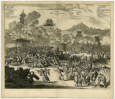 Antique Print-MURDER-EMPEROR-CUBO-KYOTO-IMPERIAL PALACE-Montanus-1669