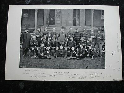 RARE Original Famous Footballers, #127 Moseley Rugby Team 1895 - 96 G-VG