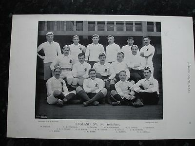 RARE Original Famous Footballers, #079 England XV Rugby 1895 - 96