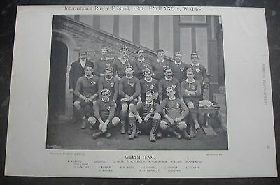 RARE Original Famous Footballers, #031 Welsh Rugby Team 1895 - 96