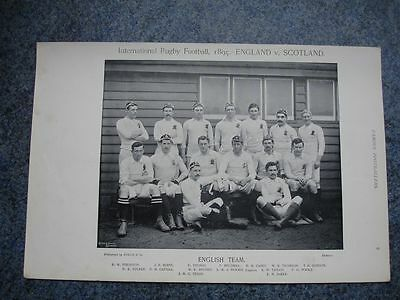 RARE Original Famous Footballers, #009 The English Rugby Team 1895 - 96