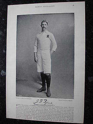 RARE Original Famous Footballers, #045 J.F.Byrne, MOSELEY, Eng, Rugby 1895 - 96