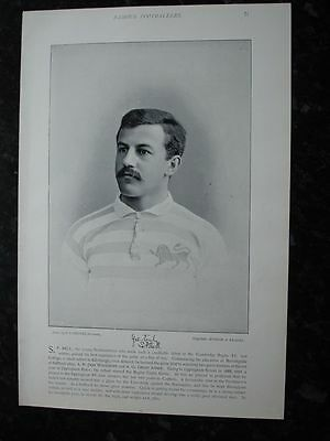 RARE Original Famous Footballers, #071 S.P.Bell Cambridge XV Rugby 1895 - 96