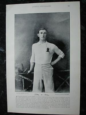 RARE Original Famous Footballers, #133 G.M.Carey, Oxford, Rugby 1895  -96