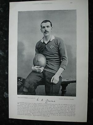 RARE Original Famous Footballers, #129 W.B.Cownie, Watsonians Rugby 1895 - 96