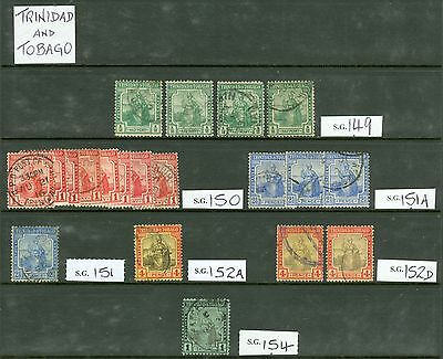Trinidad & Tobago. Mint & used selection on 4 double sided stock cards...