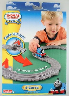 NEW Take N Play Thomas S Curve Track Pack