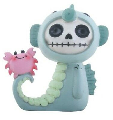 Furrybones Anchor Skeleton in Green Seahorse Costume with Pink Crab Figurine New