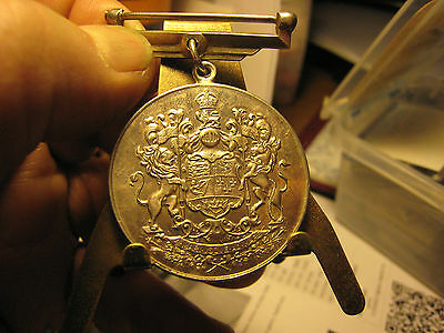 1939 Canada Silver Medal Voluntary Service Superb With Clasp
