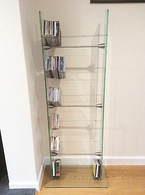 Future Glass Cd Rack, Tall Holds 258 Cd's. Also Suitable For DVD