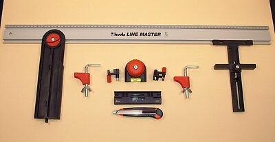 Line Master machine guide rail system circular saw jigsaw router 10-piece kit