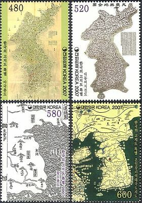 Korea 2007 Ancient Maps/Map-making/Geography/Cartography/History 4v set (n44296)