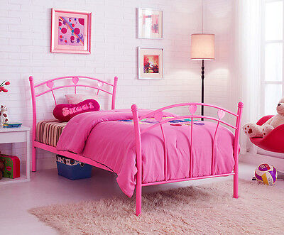 Aurora Single Bed Frame 3FT Pink Metal Childrens Kids Girl **BARGAIN PRICE**
