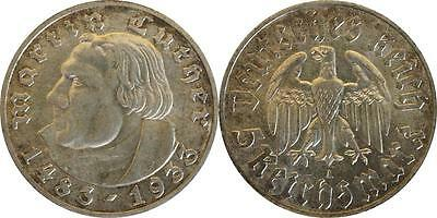 5 Reichsmark 1933 A Luther patina vz/Stgl. #29402