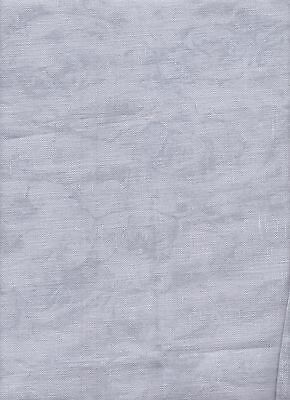 "25ct Zweigart Lugana Fabric Large piece 68 x 70cms ""Vintage Grey"" sold as single"