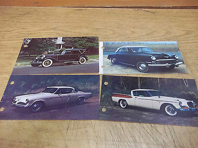 Studebaker Postcard & picture-information card lot of 4