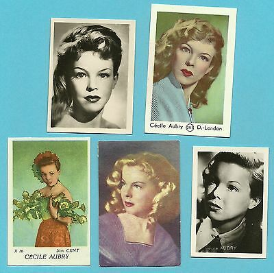Cecile Aubry Fab Card Collection French film actress Poly TV Series Author