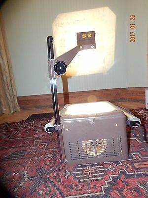 nt832)Vintage Metal Over Head Projector School WORKS GREAT!!